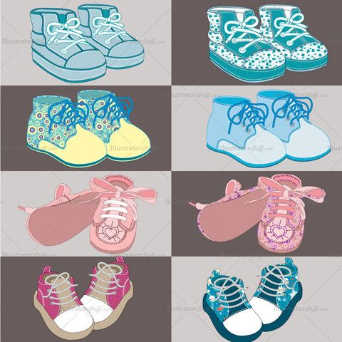 Baby converse Shoes Fashion Flat Template