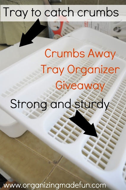 This is SERIOUSLY an awesome organizer for your silverware...all those crumbs that get in the drawer are easy to wipe up, and quick!