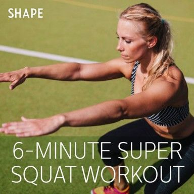 Don't think you have time to workout? All you need is 6 minutes for this killer squat routine
