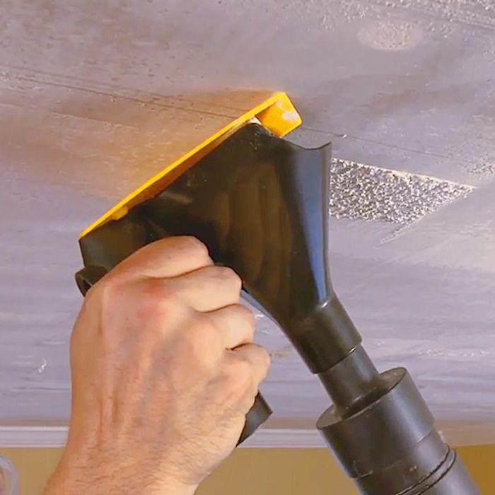 Popeeze Popcorn Ceiling Scraper With Vacuum Attachment