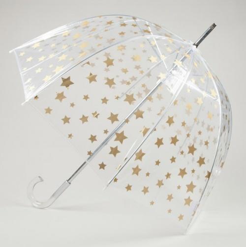 Star Print Clear Bubble Umbrella $8.50