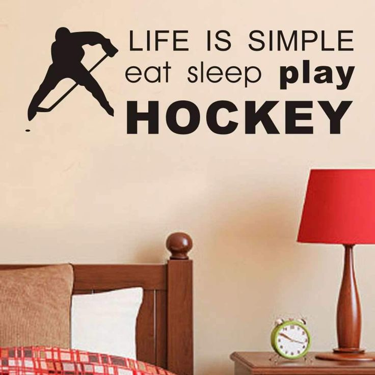 Home Decoration Ice Hockey Cheap Wall Sticker Removable House Decor Name  Quote Sports Decals In Rooms Part 51