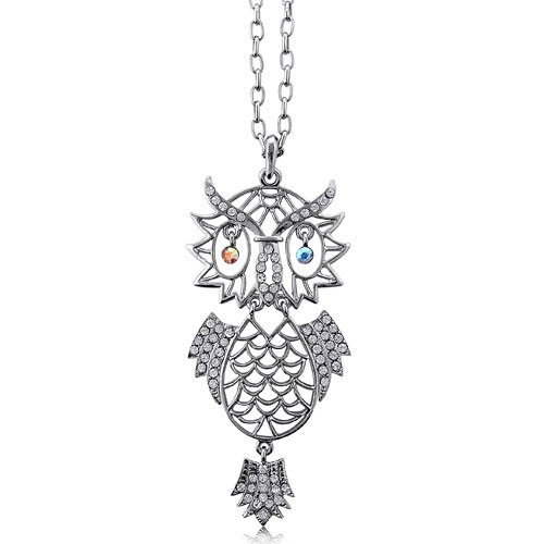 Silver Toned Owl Necklace from Berricle - Price: $27.99