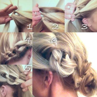 side knots & messy bun