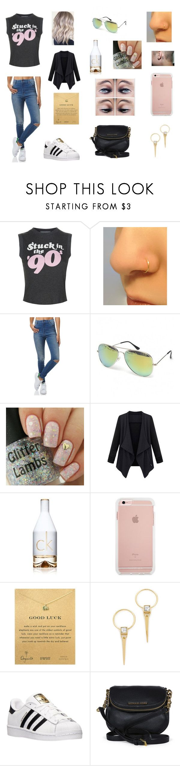 Untitled #228 by katrine-frid on Polyvore featuring Wildfox, Wrangler, adidas, Michael Kors, Dogeared, Alexis Bittar and Calvin Klein