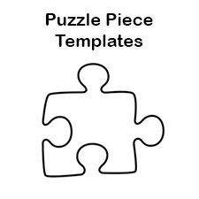 Puzzle piece templates for bulletin board