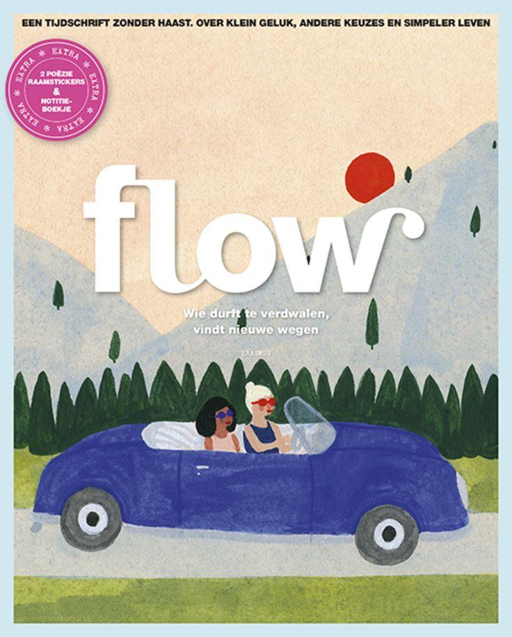Flow 4-2016 Dutch edition In deze Flow onder andere: • Of het over de liefde gaat, een etentje of een weekend weg: vaak zien we al helemaal voor ons hoe het zal zijn, terwijl het meestal anders loopt. Over de zin en onzin van verwachtingen. • Dertig-dagen-opruim project • Ons boekenlijstje voor de zomer. • Bij mindful tekenen telt niet het resultaat, maar het bezig zijn en de aandacht voor details. Extra's: 2 raamstickers met gedicht en botanische print, plus een zigzag notitieboekje
