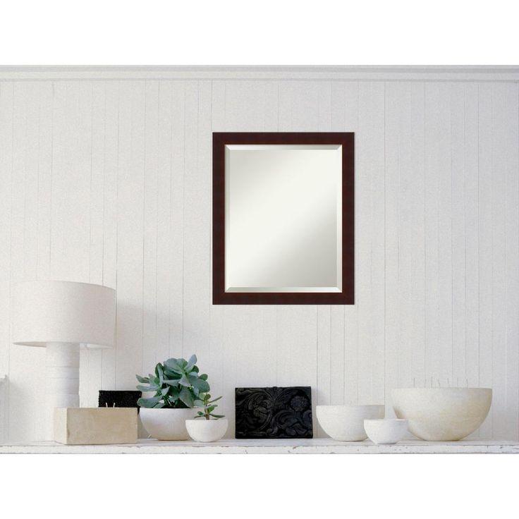 Georgic Cherry Wood 19 in. W x 23 in. H Contemporary Framed Mirror