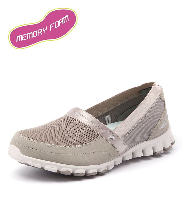 Ez Flex Take It Easy Taupe by Skechers Shoes Online from Styletread