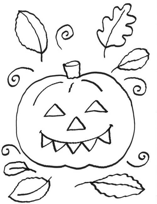 Kostenlose Malvorlage Halloween Halloween Kurbis Zum ...