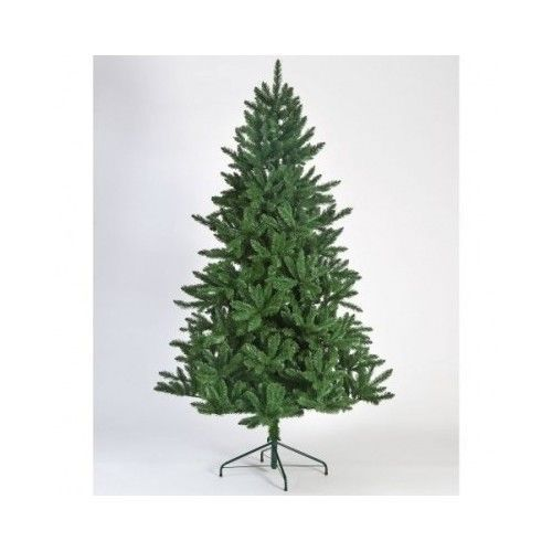 Artificial Christmas Tree Green Plastic Branches Tips 7 Ft Holiday Decoration