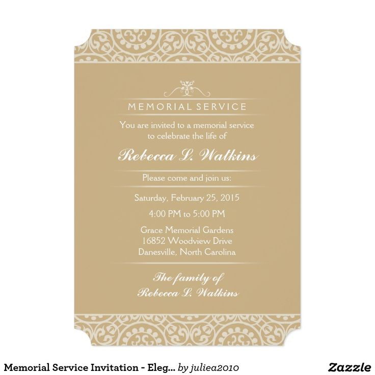 The 33 best images about Funeral on Pinterest - memorial service invitation sample