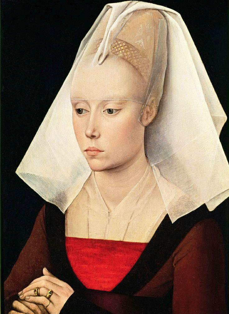 ROGIER VAN DER WEYDEN. Portrait of a Woman. 1464. National Gallery, London.