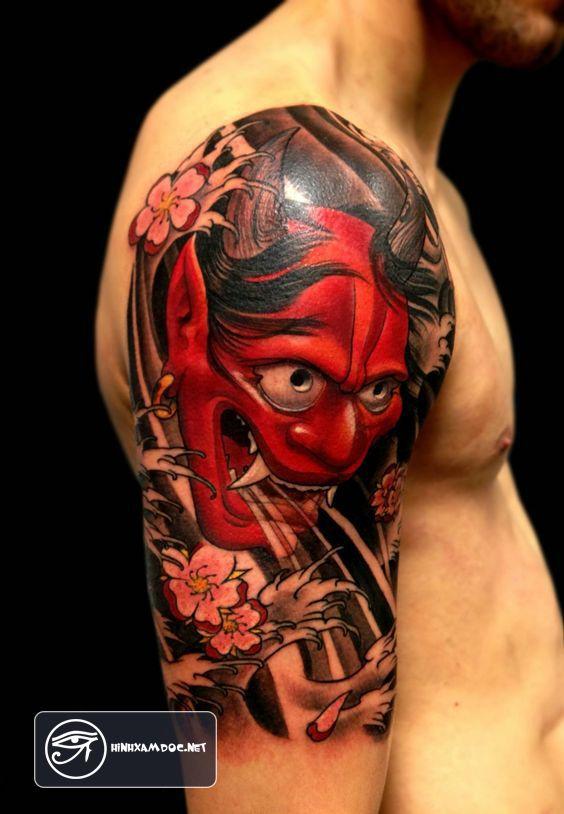 Ý nghĩa 20 hình xăm mặt quỷ Oni đẹp nhất Nhật Bản - Oni tattoo