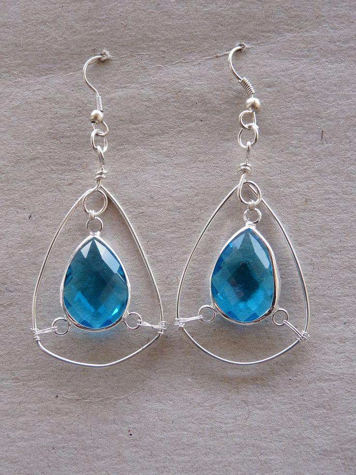 #orecchini a #goccia #azzurri #evabijoux #handmade #fattoamano #gioielli #bijoux
