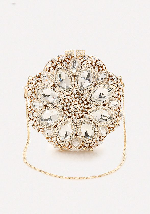 Sparkling Floral Minaudiere - All Accessories | bebe