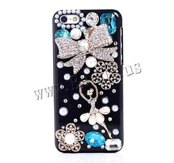 Customized Mobile Phone Cases, Plastic, with Resin & ABS Plastic & Zinc Alloy & Acrylic