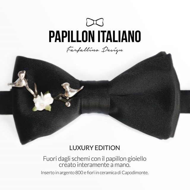 Anteprima LUXURY EDITION. #papillonitaliano #handmade #madeinitaly #jewel #silver #birds #ceramic #capodimonte #bowtie #papillon #black #fashion #fashionblogger #love #luxury #luxuryedition #italianstyle  #gentlemen ##man #woman #solocosebelle #shop #shopping #shoppingonline