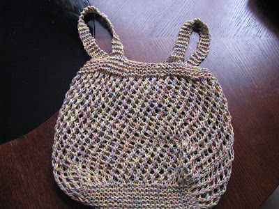 Chris Knits in Niagara: Green Market Bag