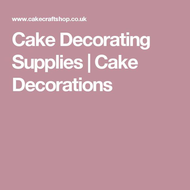 Cake Decorating Supplies | Cake Decorations