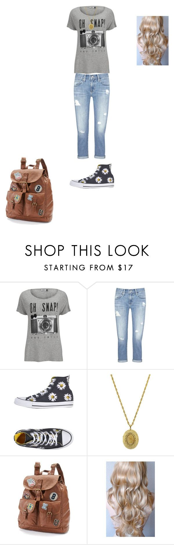 """""""Alice (Ali) Rose Bell-Alice In Zombieland"""" by umanamelb ❤ liked on Polyvore featuring ONLY, AG Adriano Goldschmied, Converse, 1928 and Mudd"""