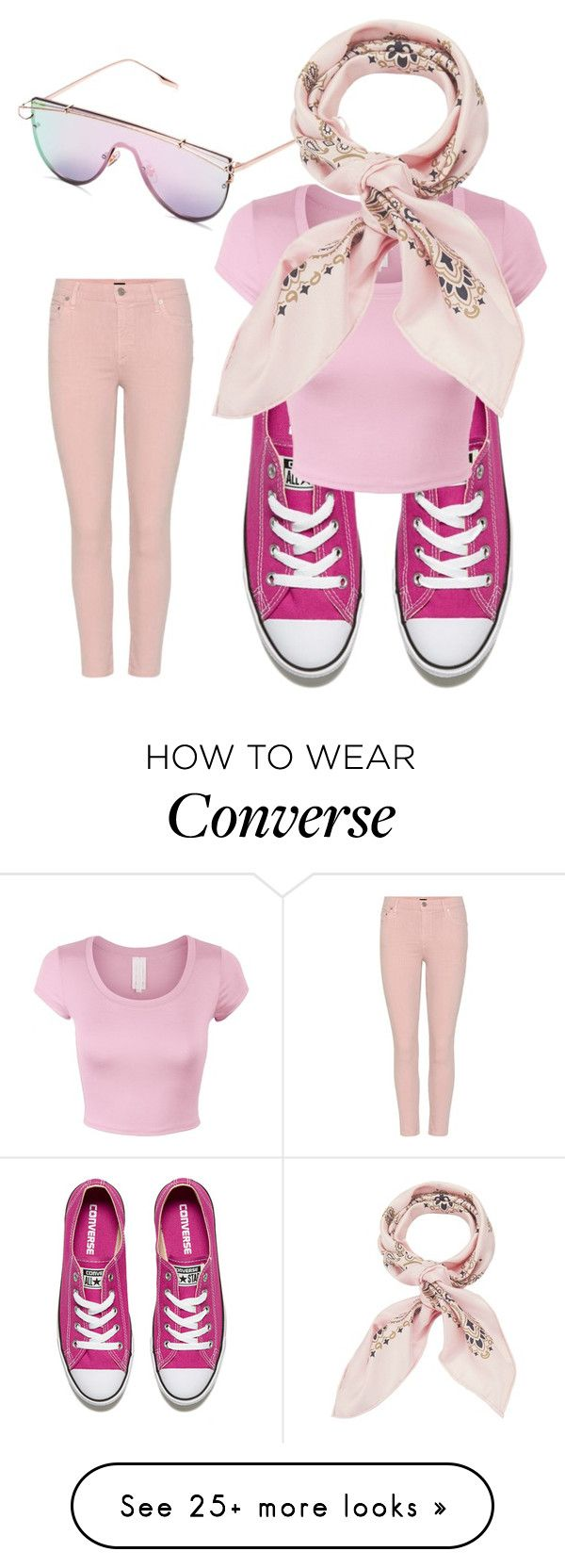 """Untitled #3832"" by bellagioia on Polyvore featuring Citizens of Humanity, Converse and Manipuri"