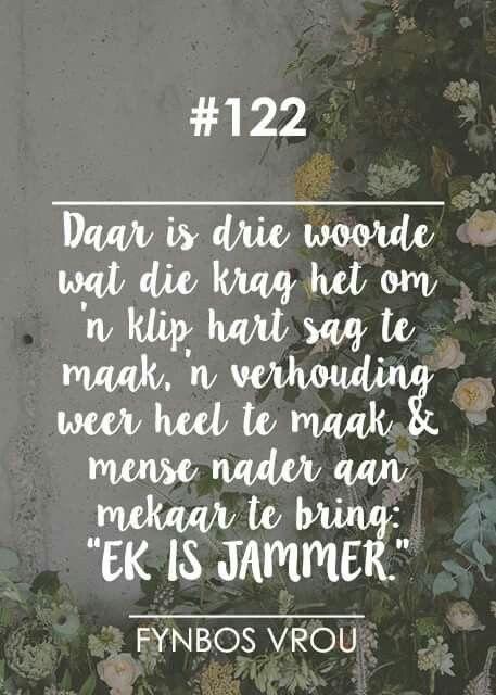 """__[Fynbos Vrou/FB] # 122 Drie belangrike Woorde """"Ek is jammer"""" #Afrikaans  #Forgiveness"""