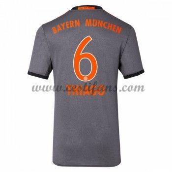 Bayern Munich Fotbalové Dresy 2016-17 Thiago 6 Venkovní Dres