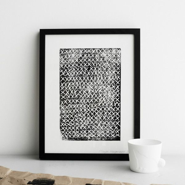 Kiss print by Marjon Hoogervorst. We love these prints at www.suchandsuch.co Kus Je (Black) - Print