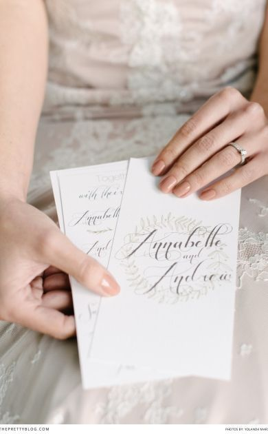 Calligraphy wedding stationery | Stationary and Styling: Hello Dolly