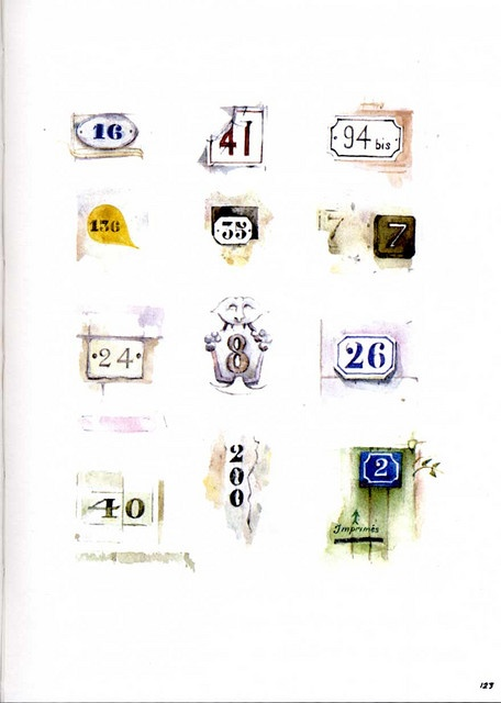 Sara Midda: South of France sketch book. French do numbers so well!