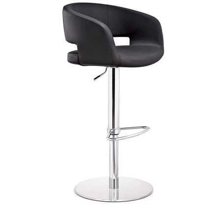 This modern and stylish gas lift bar stool will add a touch of class to your kitchen. The funky Savina Chrome Gas Lift Bar Stool offers style, comfort and value for money. A trendy yet elegant bar stool which is the epitome of style and sophistication and is well upholstered in comfortable padding and soft, tactile Black or White faux leather. It is fully height adjustable with a chrome finish pedestal, footrest and heavy base. £159.00