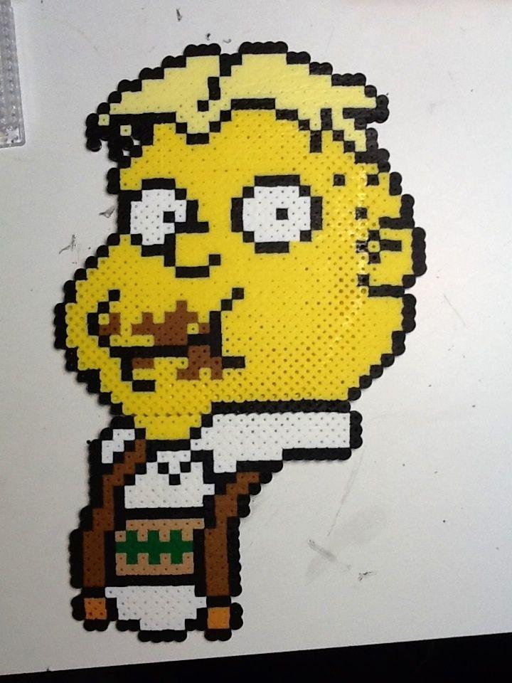 Uter Zörker The Simpsons perler beads by CogginsTheMachine on deviantart