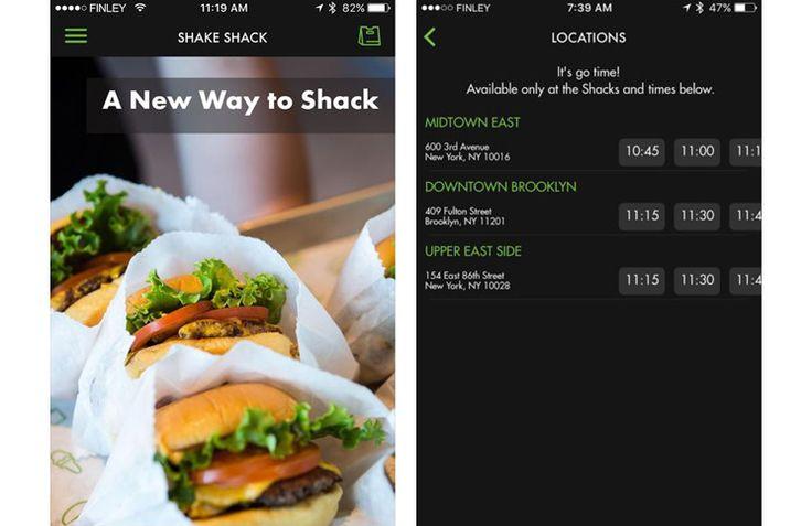 #ShakeShack #mobil uygulama üzerinden sipariş almaya başladı.