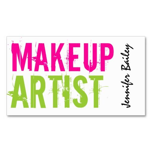 Bold Makeup Artist Business Cards. I love this design! It is available for customization or ready to buy as is. All you need is to add your business info to this template then place the order. It will ship within 24 hours. Just click the image to make your own!
