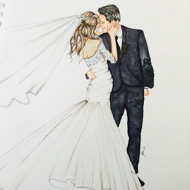 Жених и невеста целуются картинки карандашом