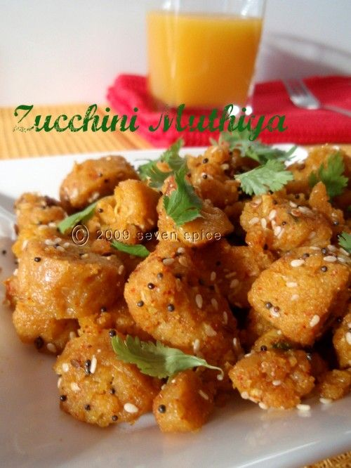 Zucchini Muthia - steamed & stir-fried dumpling.