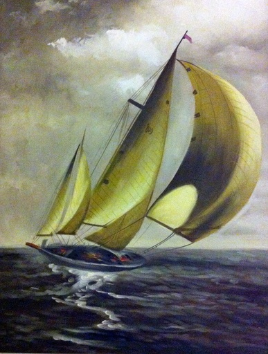 Sailing boat, original can be found in Kouros Restaurant