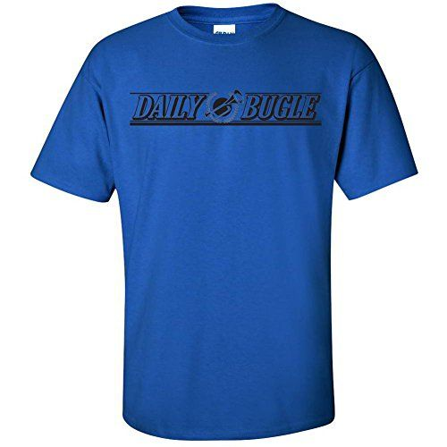 Daily Bugle -Spiderman Movie Graphic Clothing - T-Shirt - Blue - Large @ niftywarehouse.com