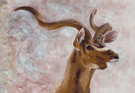 Check out this item in my Etsy shop https://www.etsy.com/uk/listing/515430075/kudu-african-print-deer-painting