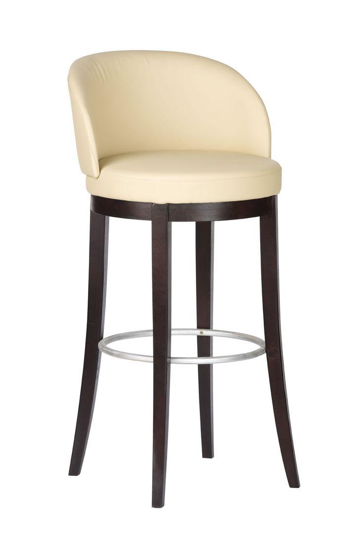 Comfortable bar stool with leather seat. #KloseFurniture #RestaurantFurniture #barstool