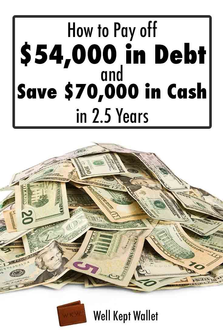 How to Pay off $54,000 in Debt and Save $70,000 in Cash in 2.5 Years
