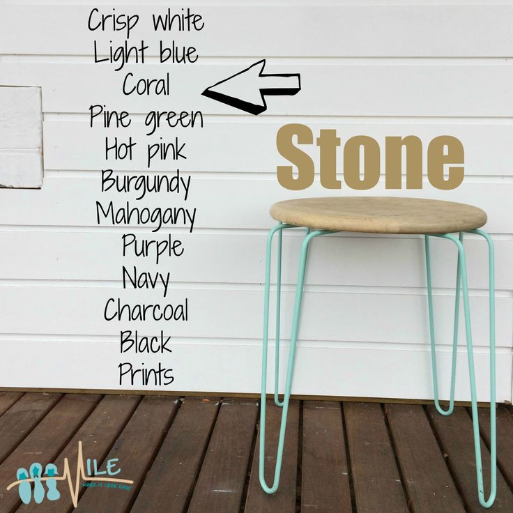 Stone goes with...