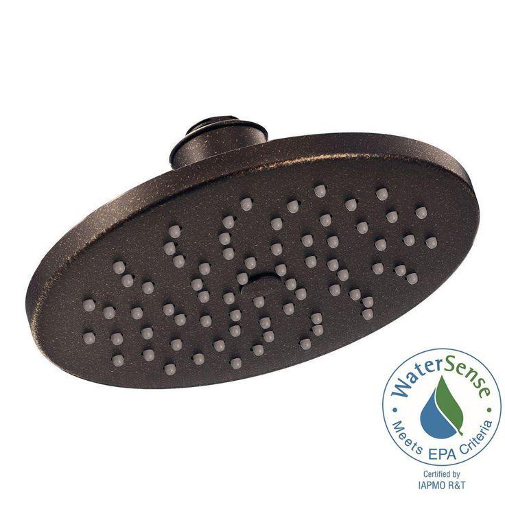1 Spray 8 In Eco Performance Rainshower Showerhead Featuring
