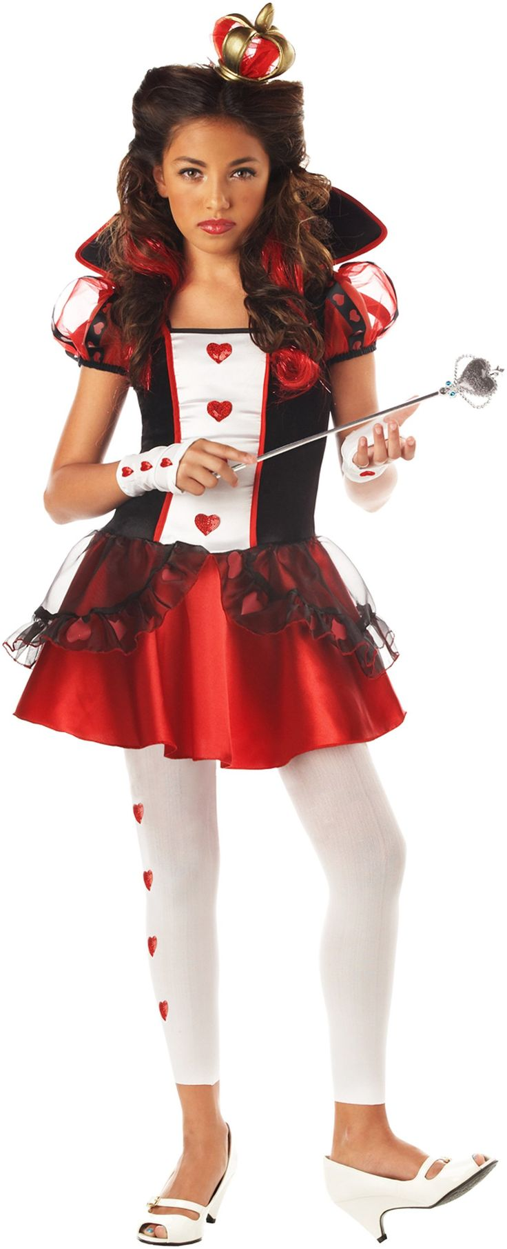Wonderlands Queen of Hearts Tween Costume from BuyCostumes.com