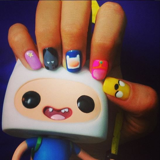 adventure time nails strawburry17
