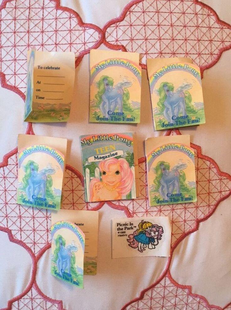 Vintage My Little Pony Birthday Invitations MLP Teen Magazine Megan Sticker Lot | eBay