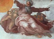 The Creation of the Heavens (detail) 1508-12  by Michelangelo Buonarroti