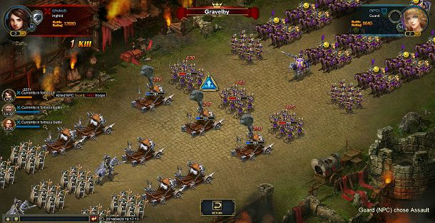 RavenMarch: Empire in Flames é um jogo de fantasia num mundo medieval, onde os jogadores são construtores de cidade e comandantes militares.