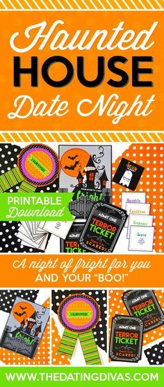 The perfect Halloween Date Night! Including printable invitations, terror tickets, and even a game of Sexy Ta-BOO! From The Dating Divas
